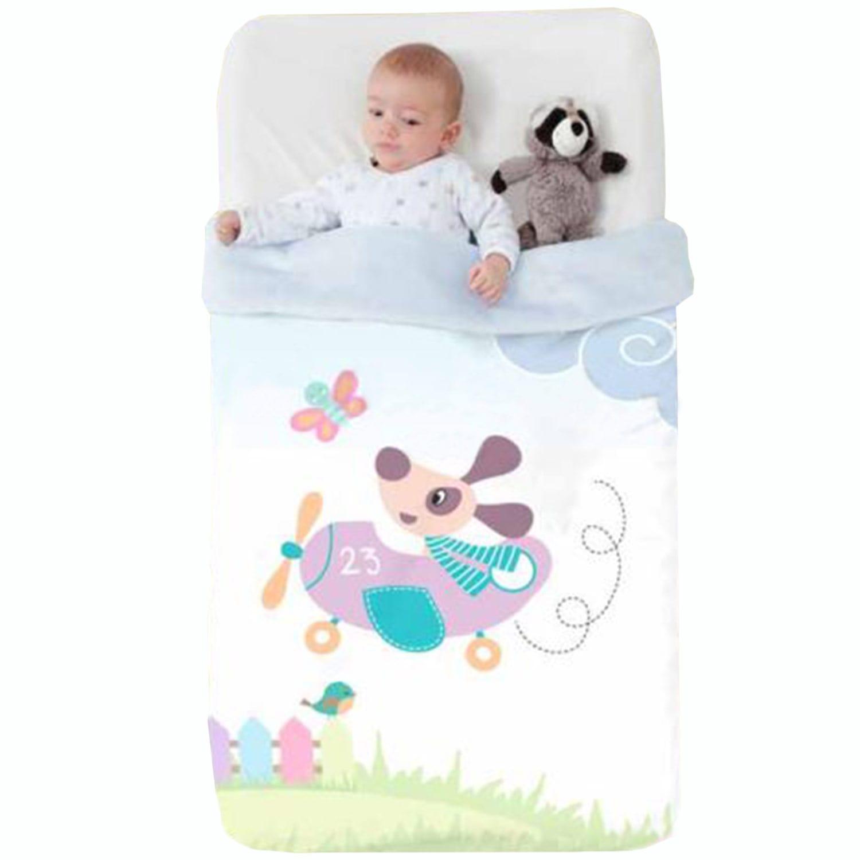 Κουβέρτα Βρεφική Baby VIP 518 c15 White-Purple Manterol Κούνιας 110x140cm