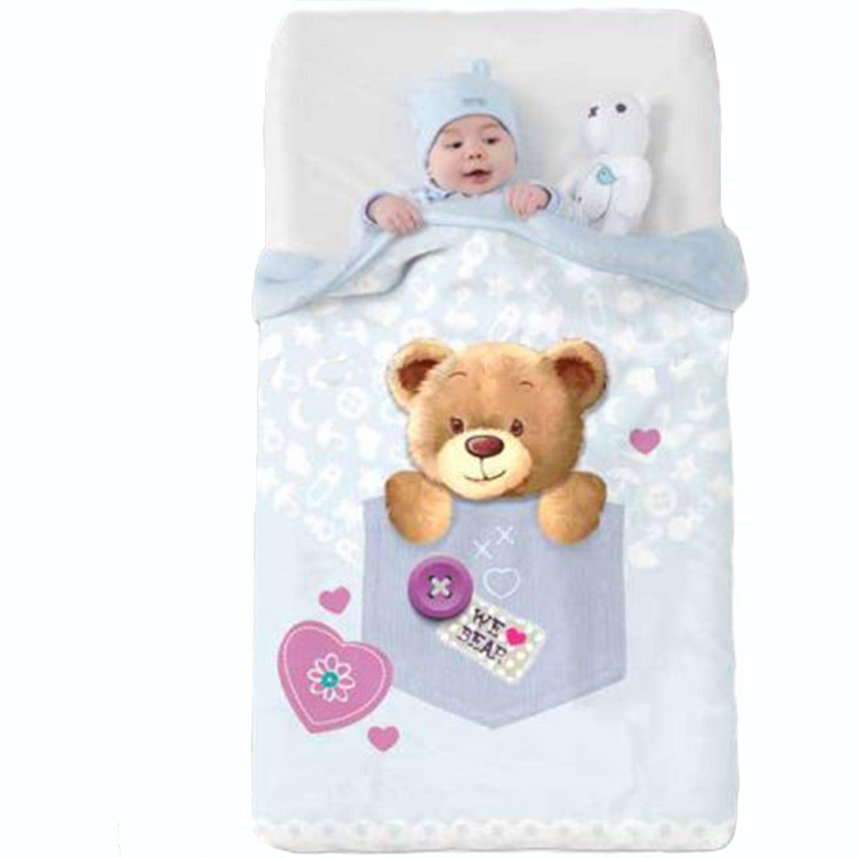 Κουβέρτα Βρεφική Baby VIP 519 c08 Ciel Manterol Κούνιας 110x140cm