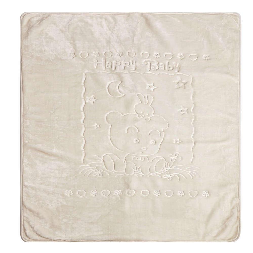 Κουβέρτα Βρεφική Κούνιας Oz 12 Βελουτέ Ecru Kentia Κούνιας 100x130cm