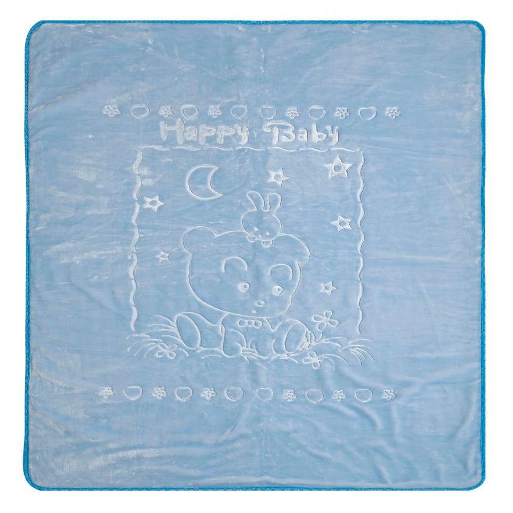 Κουβέρτα Βρεφική Κούνιας Oz 19 Βελουτέ Blue Kentia Κούνιας 100x130cm