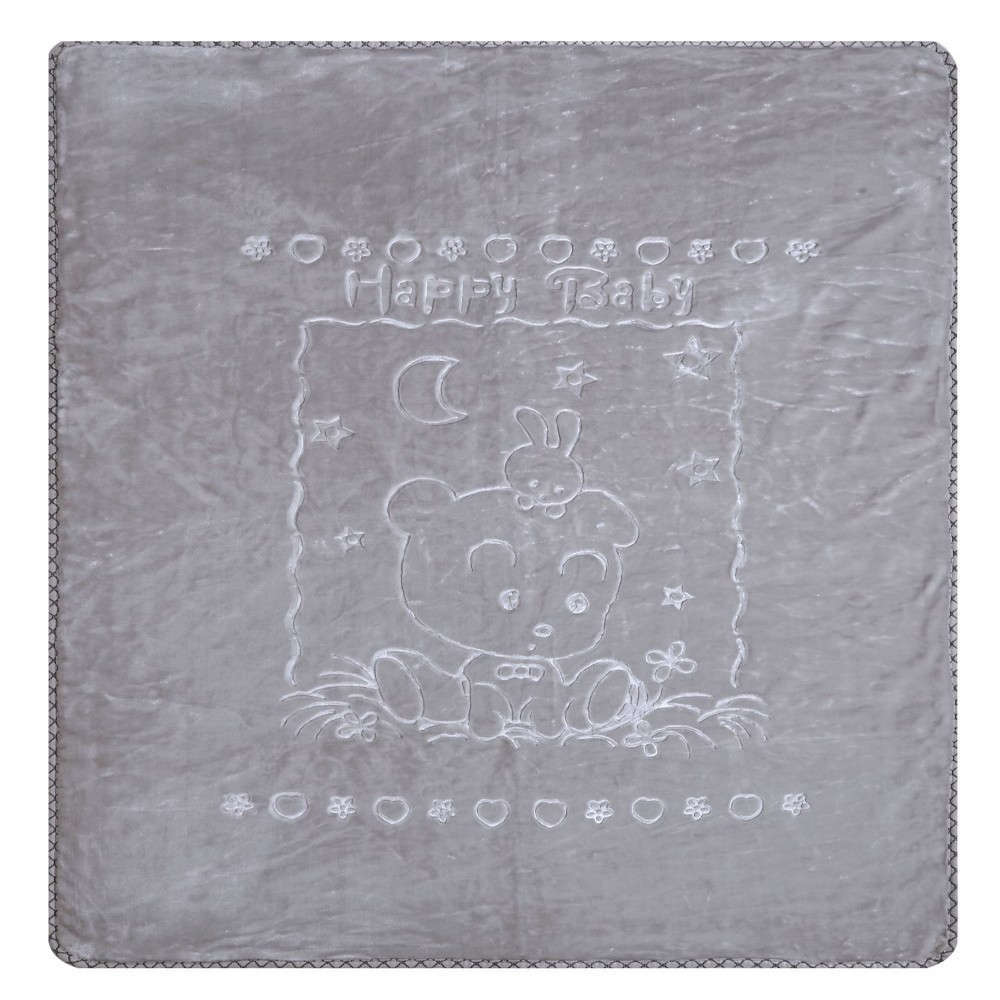 Κουβέρτα Βρεφική Κούνιας Oz 22 Βελουτέ Grey Kentia Κούνιας 100x130cm