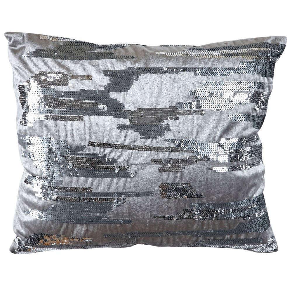 Μαξιλαροθήκη Διακοσμητική Χριστουγεννιάτικη Decore 201 Silver Kentia 45X45 100% Polyester