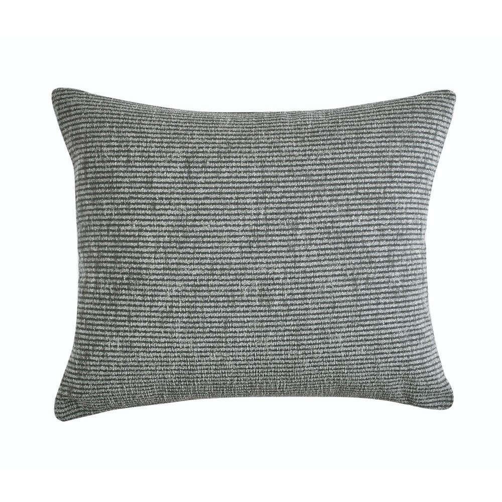 Μαξιλαροθήκη Διακοσμητική Ribbon 24 Dark Grey-Light Grey Kentia 50X50 Βαμβάκι-Ακρυλικό