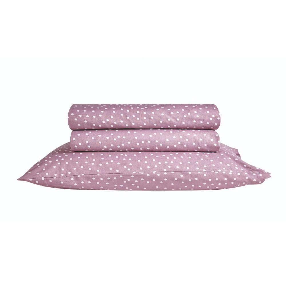 Μαξιλαροθήκη Σετ 2Τμχ Lollipop Polka 05 Purple Kentia 50Χ70 50x70cm