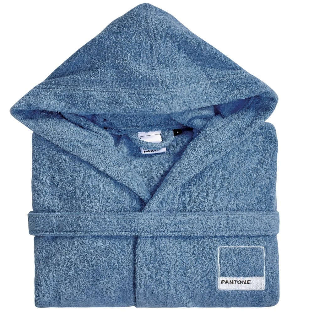 Μπουρνούζι Pantone 0501 Με Κουκούλα Extra Blue Kentia X-Large XL