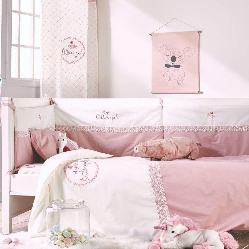 Πάντα Κούνιας Angel Light Pink-Ecru Kentia 200x40cm