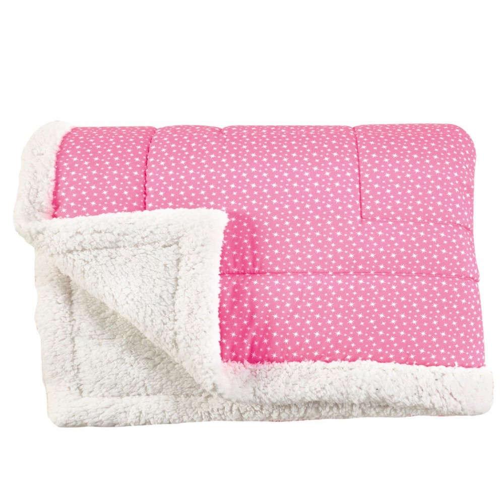 Πάπλωμα Παιδικό Strass Με Γούνα Pink-Ecru Kentia Μονό 160x240cm