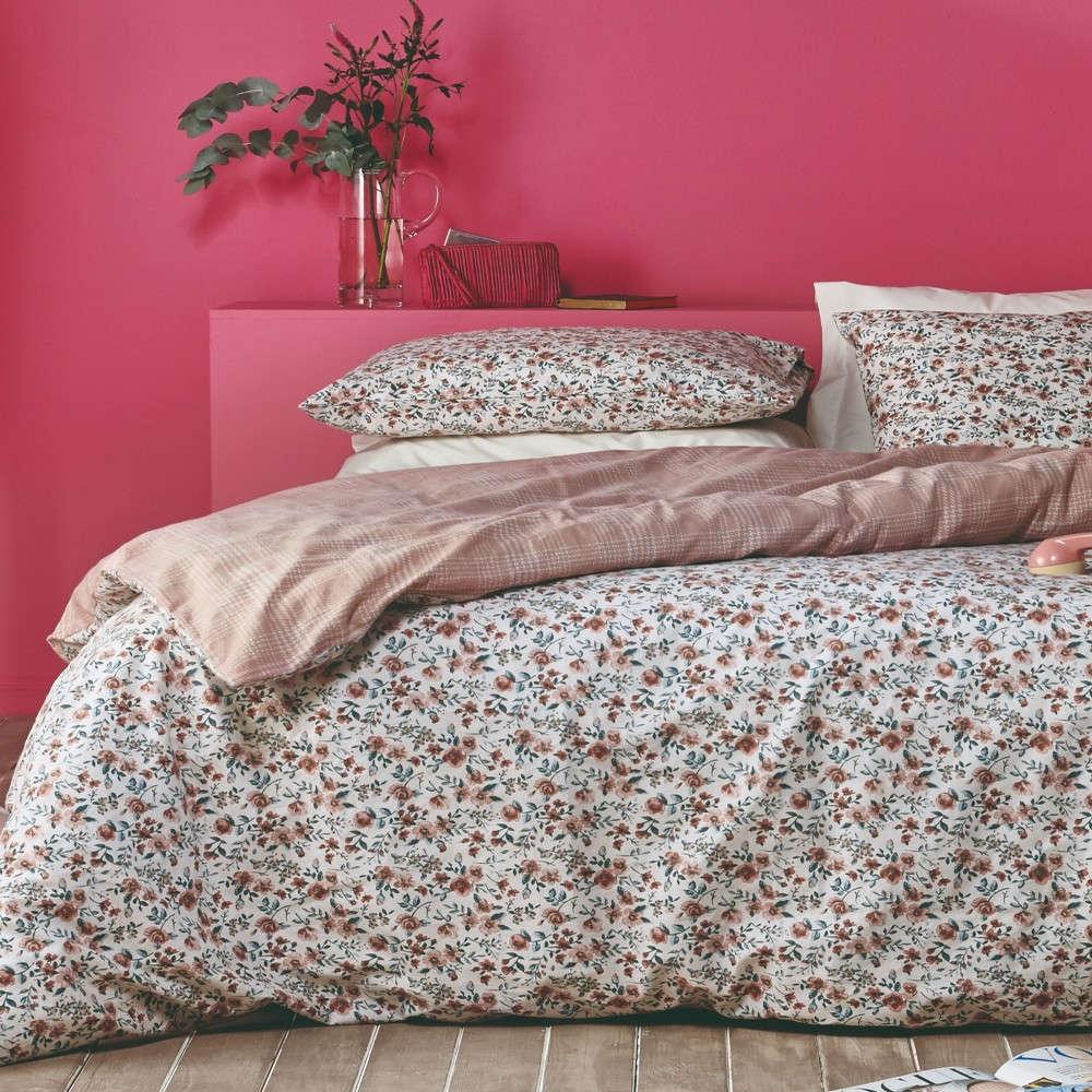 Παπλωματοθήκη Σετ 2Τμχ Sunshine 04 Dusty Pink-Beige Kentia Μονό 160x240cm