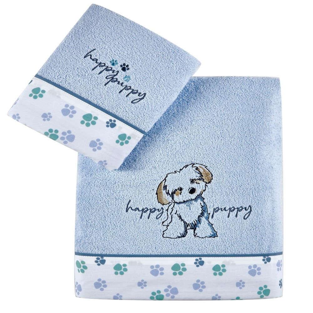 Πετσέτες Βρεφικές Σετ 2Τμχ Terrie Baby Blue Kentia Σετ Πετσέτες