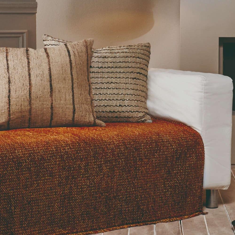 Ριχτάρι Arcana 17 Brown-Orange-Beige Kentia Τετραθέσιο 180x340cm