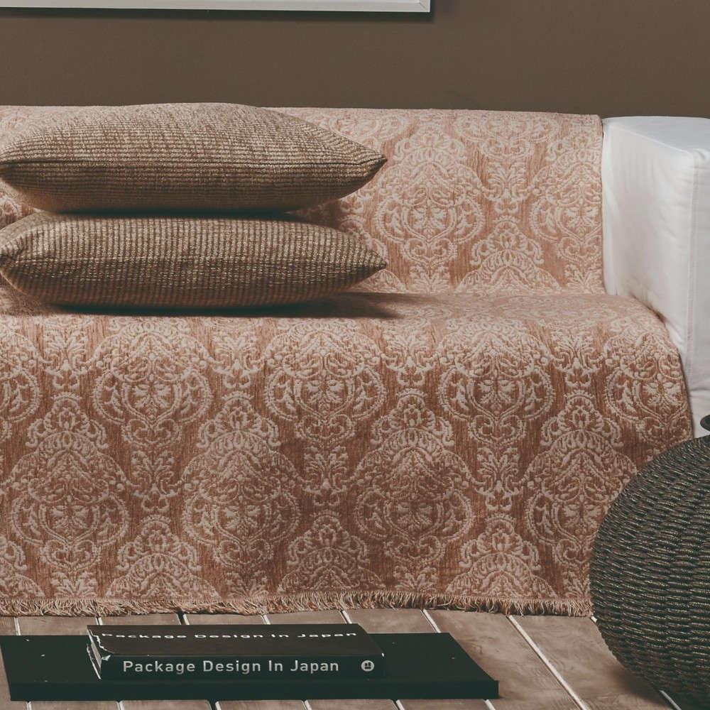 Ριχτάρι Vienna 18 Ecru-SalmonE Pink Kentia Τριθέσιο 180x300cm