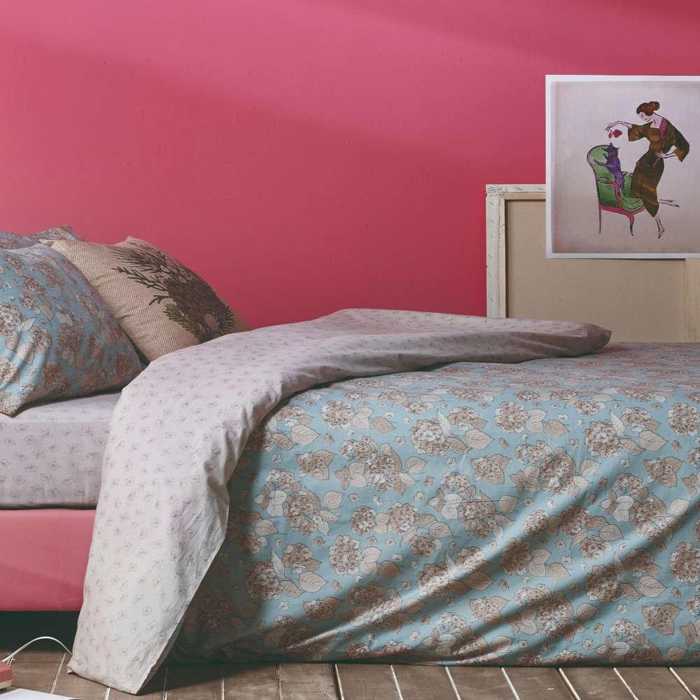 Σεντόνι Σετ 4Τμχ Darling 29 Aqua-Dusty Pink Kentia Υπέρδιπλo 240x270cm