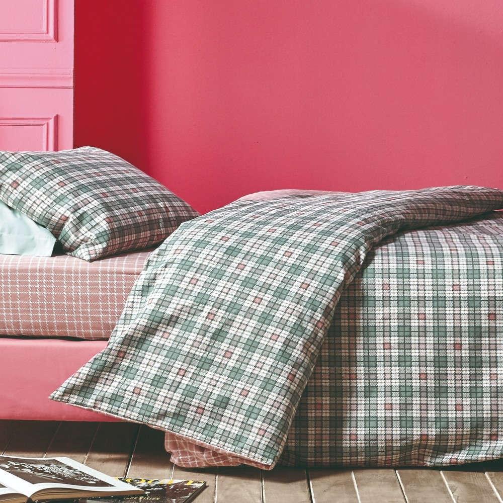 Σεντόνι Σετ 4Τμχ Edward 18 Dusty Pink-Green Kentia Υπέρδιπλo 230x270cm