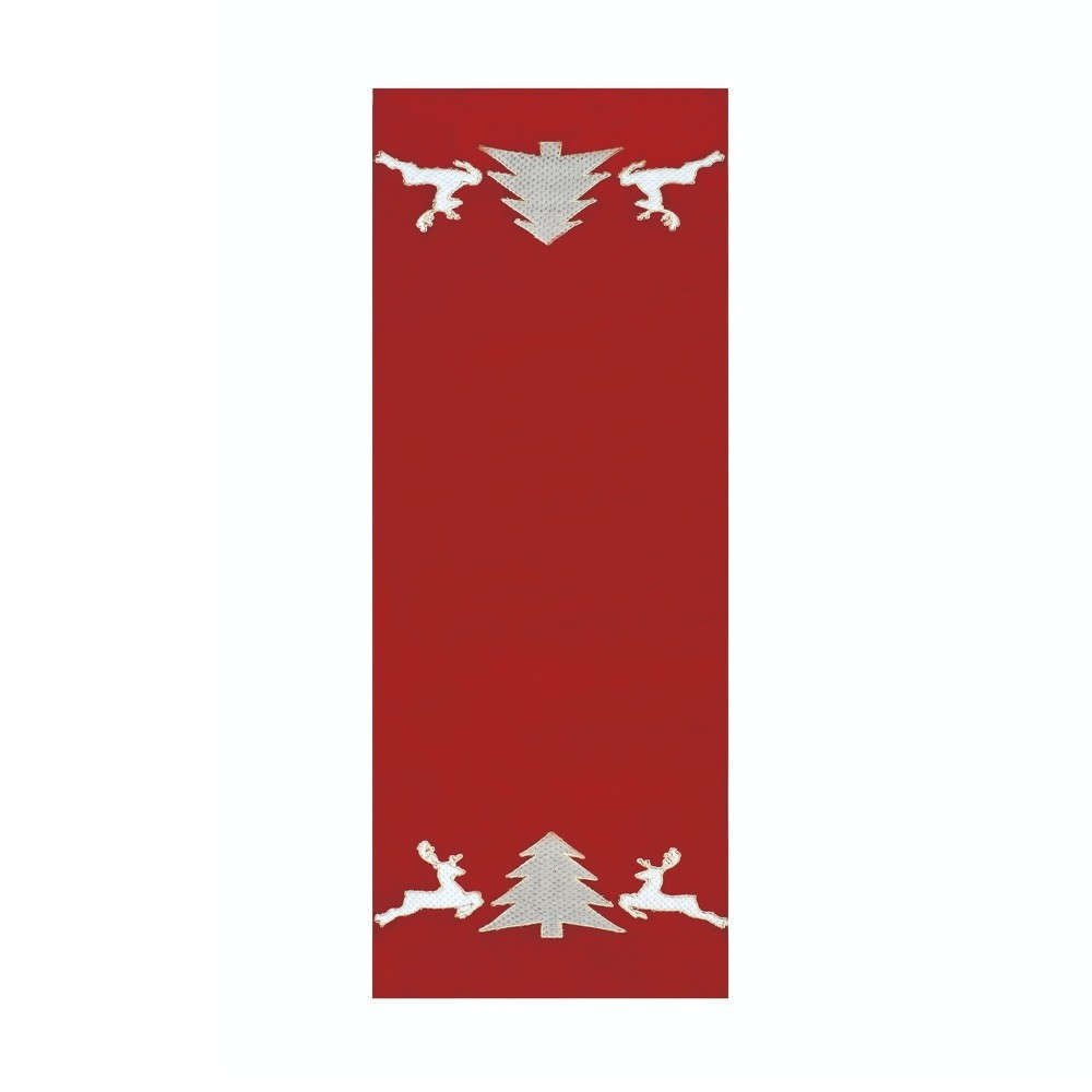 Runner Χριστουγεννιάτικο Reindeer Red Kentia 40Χ150