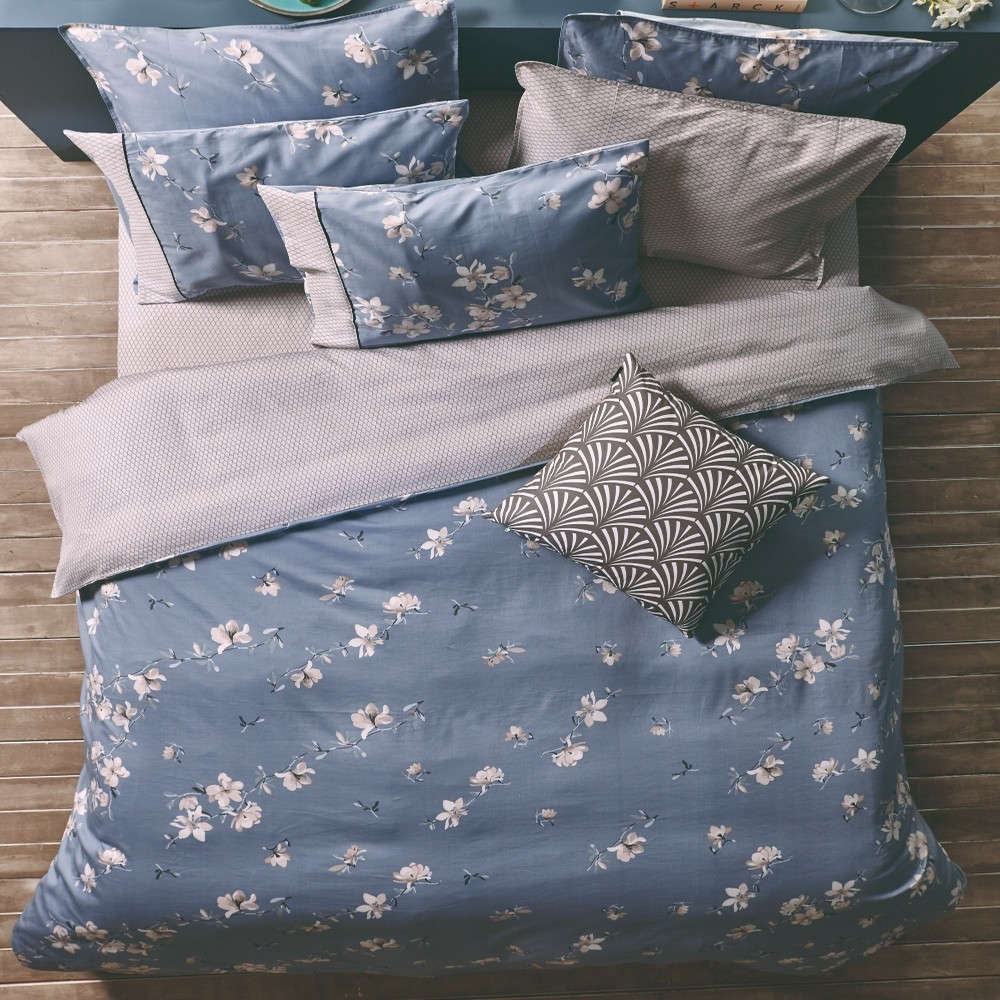 Σεντόνι Σετ 4Τμχ Estella 23 Με Λάστιχο Blue Kentia King Size 180x228cm