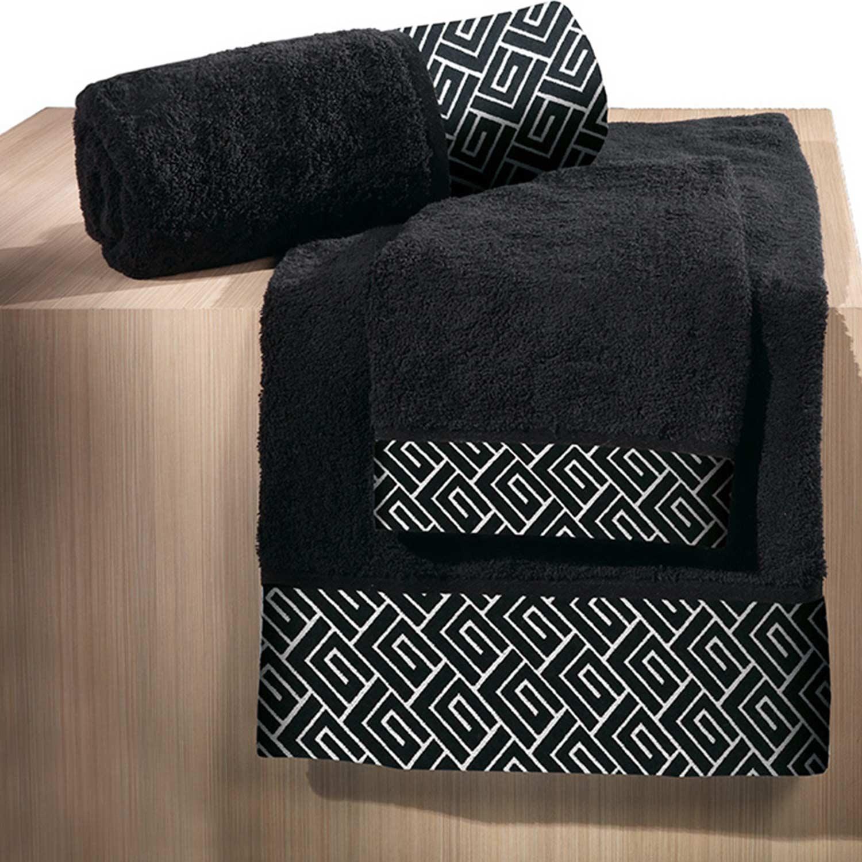 Πετσέτες Μπάνιου Σετ Famous Black 3τμχ Guy Laroche Σετ Πετσέτες 30x50cm
