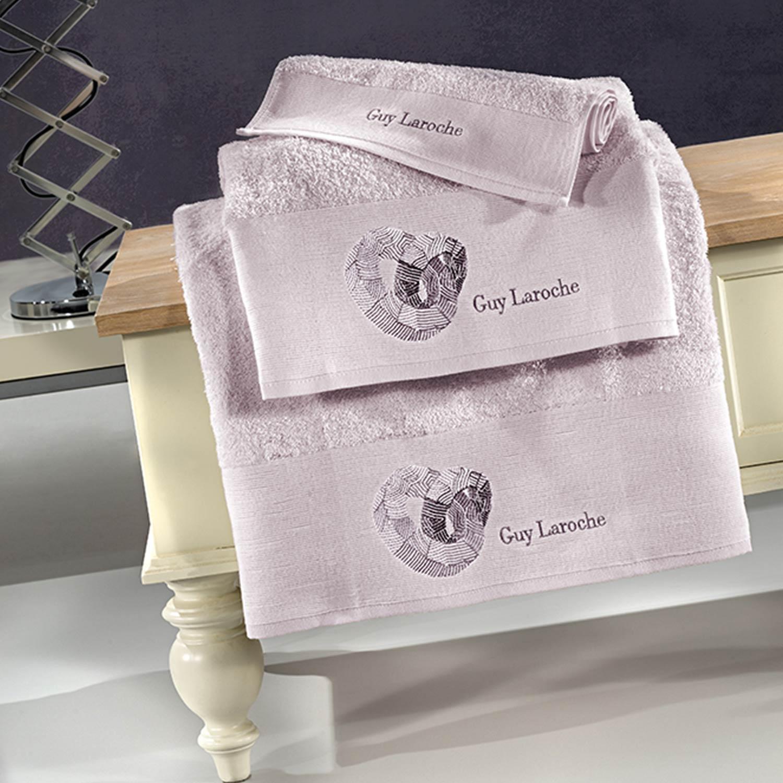 Πετσέτες Μπάνιου Σετ Ring Lilac 3τμχ Guy Laroche Σετ Πετσέτες 30x50cm