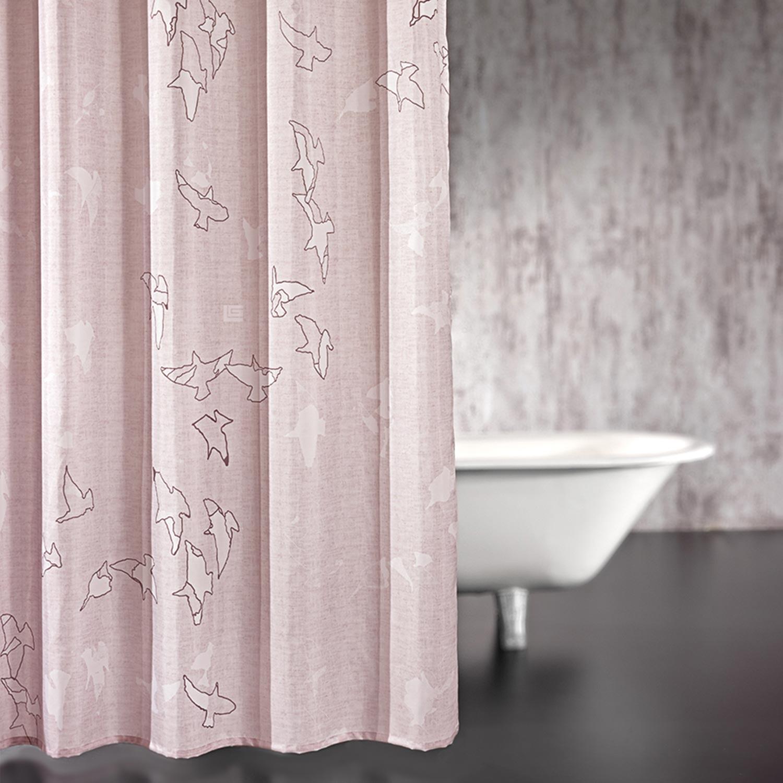 Κουρτίνα Μπάνιου Freedom Old Pink 180×190 Guy Laroche Φάρδος 180cm 180x185cm