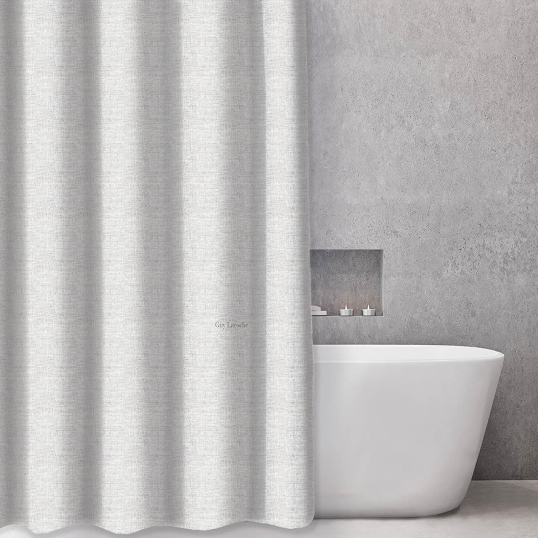 Κουρτίνα Μπάνιου Dolce Grey Guy Laroche Φάρδος 180cm 180x185cm