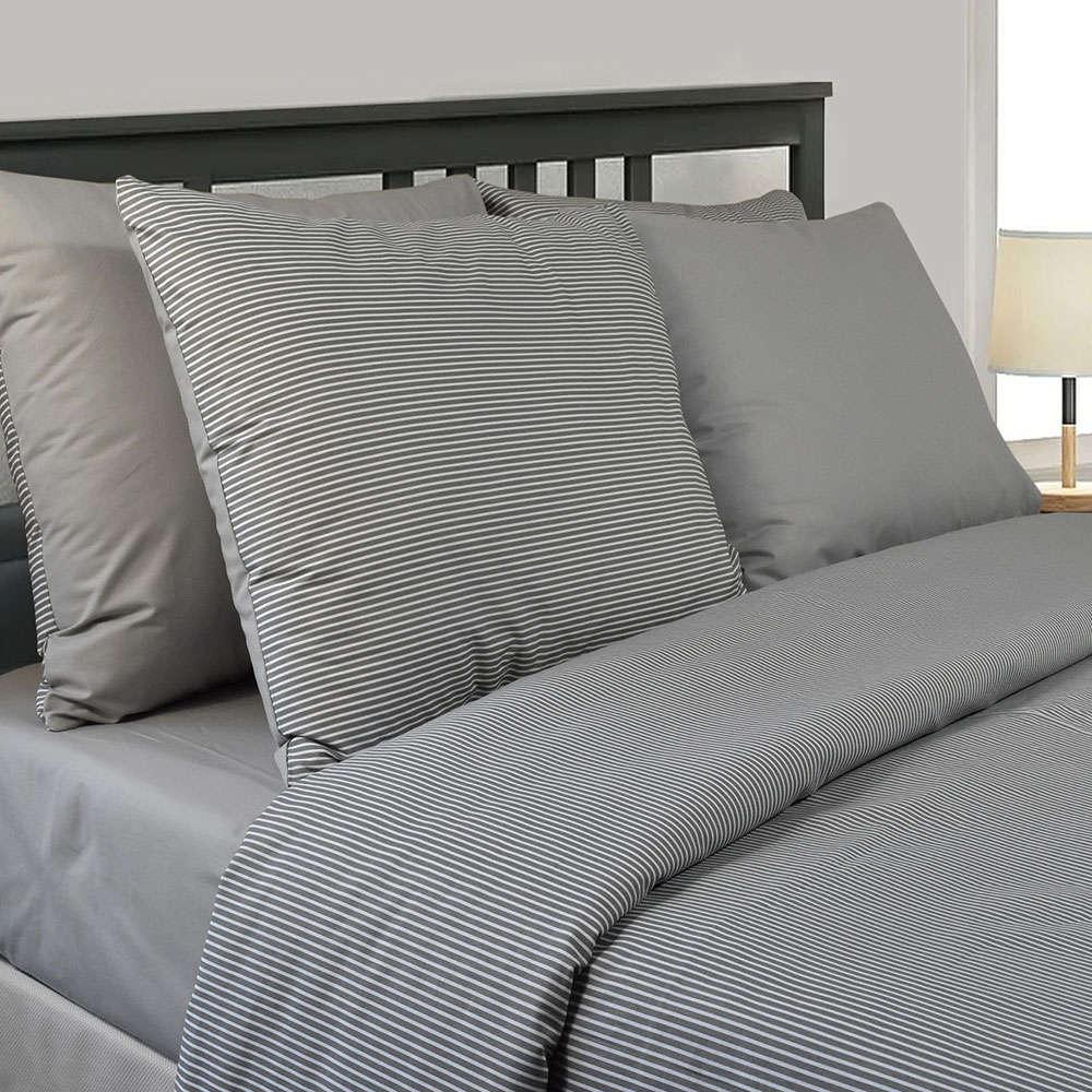 Κουβερλί Σετ 3Τμχ 3142 Grey Nexttoo Υπέρδιπλo 225x235cm