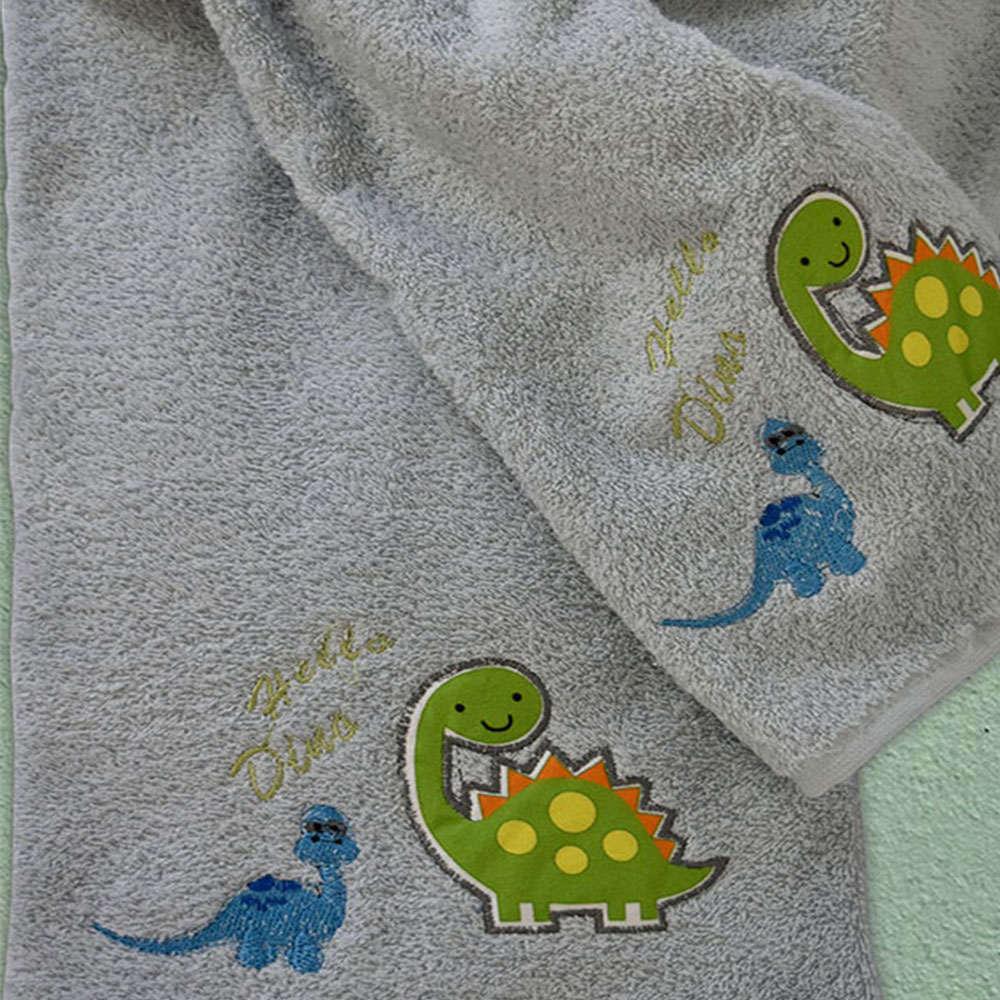 Πετσέτες Βρεφικές Σετ 2Τμχ Δεινόσαυρος 899 White Homeline Σετ Πετσέτες
