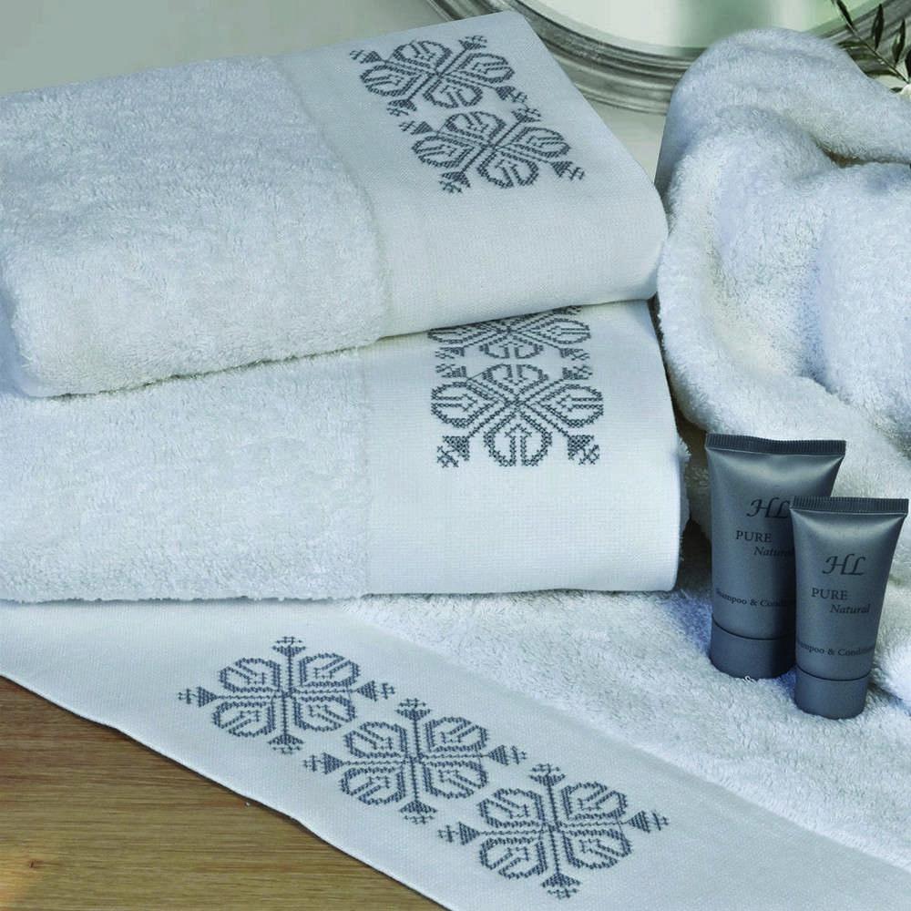 Πετσέτες Σετ 3Τμχ 2136 White Homeline Σετ Πετσέτες