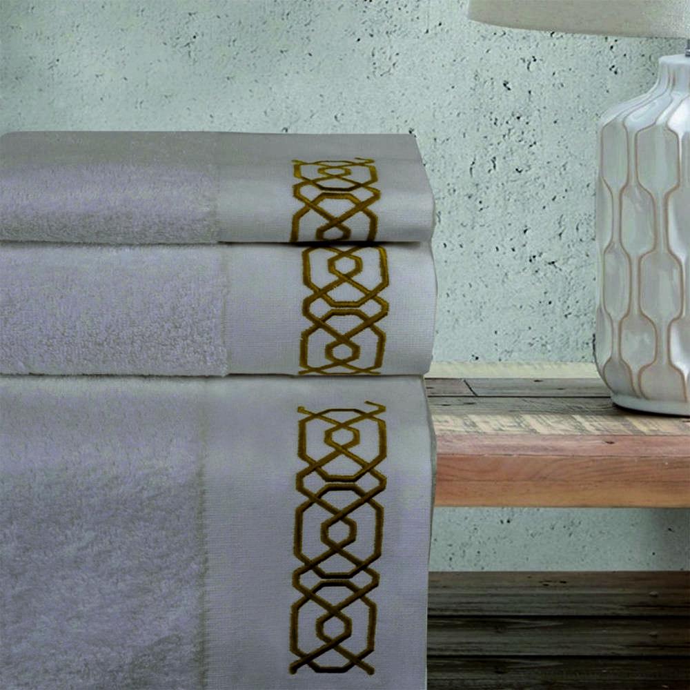Πετσέτες Σετ 3Τμχ 2139 Beige Homeline Σετ Πετσέτες