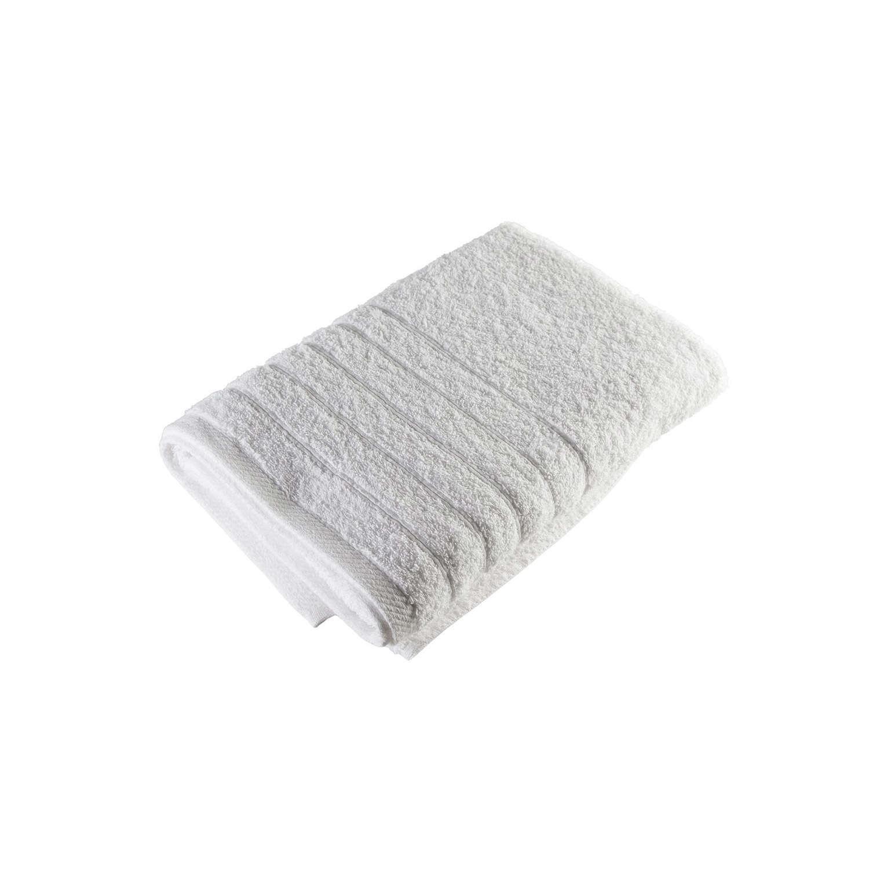 Πετσέτα Ξενοδοχείου Με Ρίγες White 100% Cotton 400gsm Προσώπου 50x90cm
