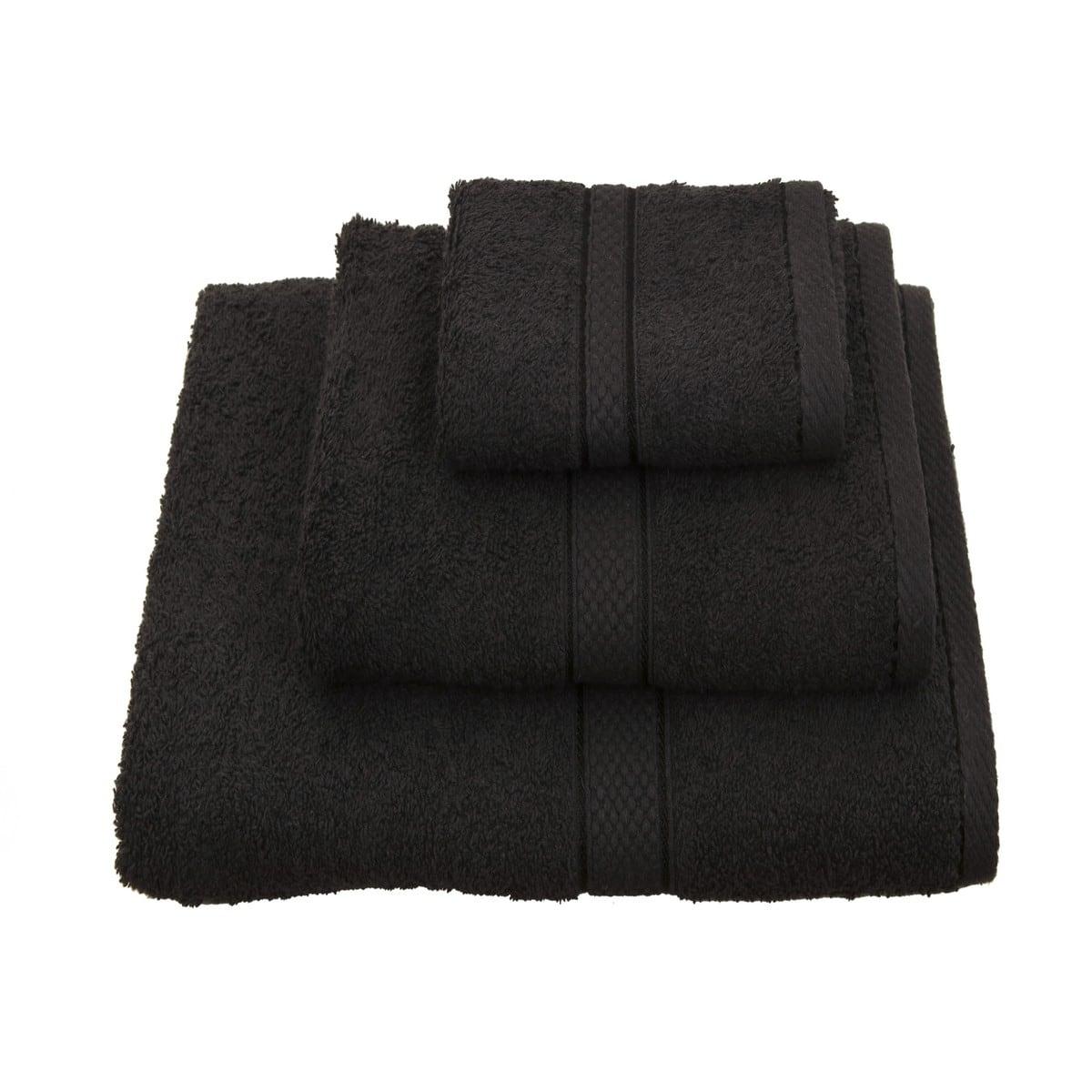 Πετσέτα Classic Μαύρη Viopros Σετ Πετσέτες