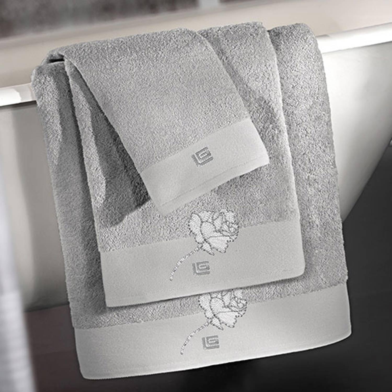 Πετσέτες Μπάνιου Σετ Celia Silver 3τμχ Guy Laroche Σετ Πετσέτες