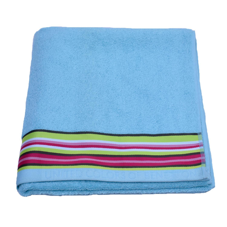 Πετσέτα Σώματος Candy Μονόχρωμη Με Ρίγα Ciel Benetton Σώματος 70x140cm
