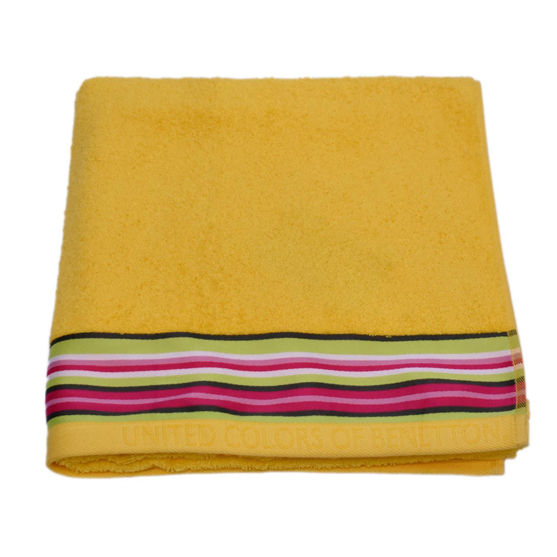 Πετσέτα Σώματος Candy Μονόχρωμη Με Ρίγα Yellow Benetton Σώματος 70x140cm