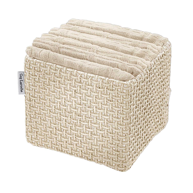 Πετσέτες Μπάνιου Σετ Λαβέτες Guest Cream 6τμχ+Κουτί Παρουσίασης Guy Laroche Σετ Πετσέτες