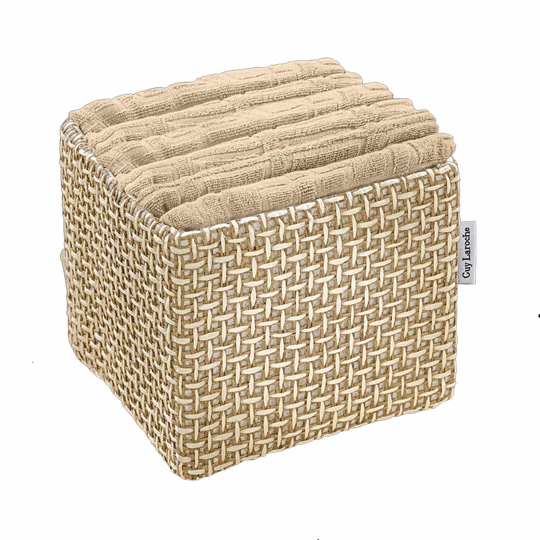 Πετσέτες Μπάνιου Σετ Λαβέτες Guest Mocca 6τμχ+Κουτί Παρουσίασης Guy Laroche Σετ Πετσέτες