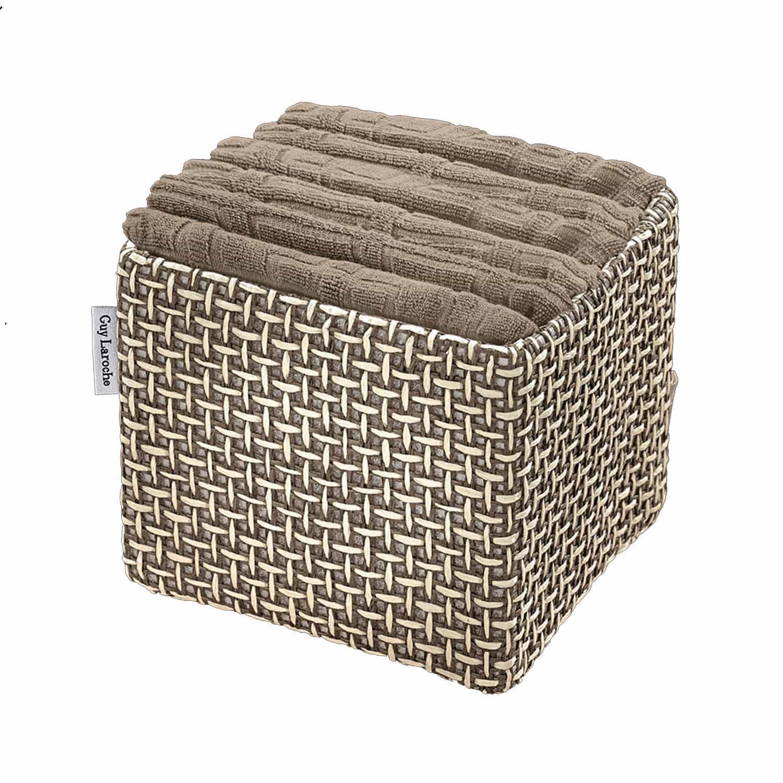 Πετσέτες Μπάνιου Σετ Λαβέτες Guest Wenge 6τμχ+Κουτί Παρουσίασης Guy Laroche Σετ Πετσέτες
