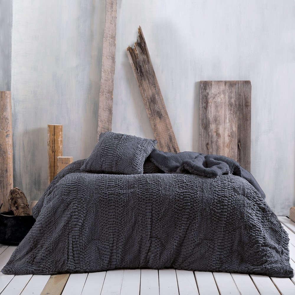 Κουβερτοπάπλωμα Waterfall Dark Grey Rythmos Ημίδιπλο 160x220cm
