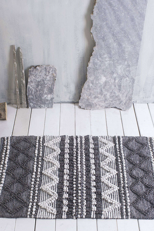 Χαλί Knossos Grey-White Rythmos 70X150