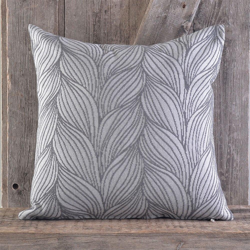 Μαξιλαροθήκη Διακοσμητική Filia Grey Ρυθμός 40Χ40 Βαμβάκι-Polyester