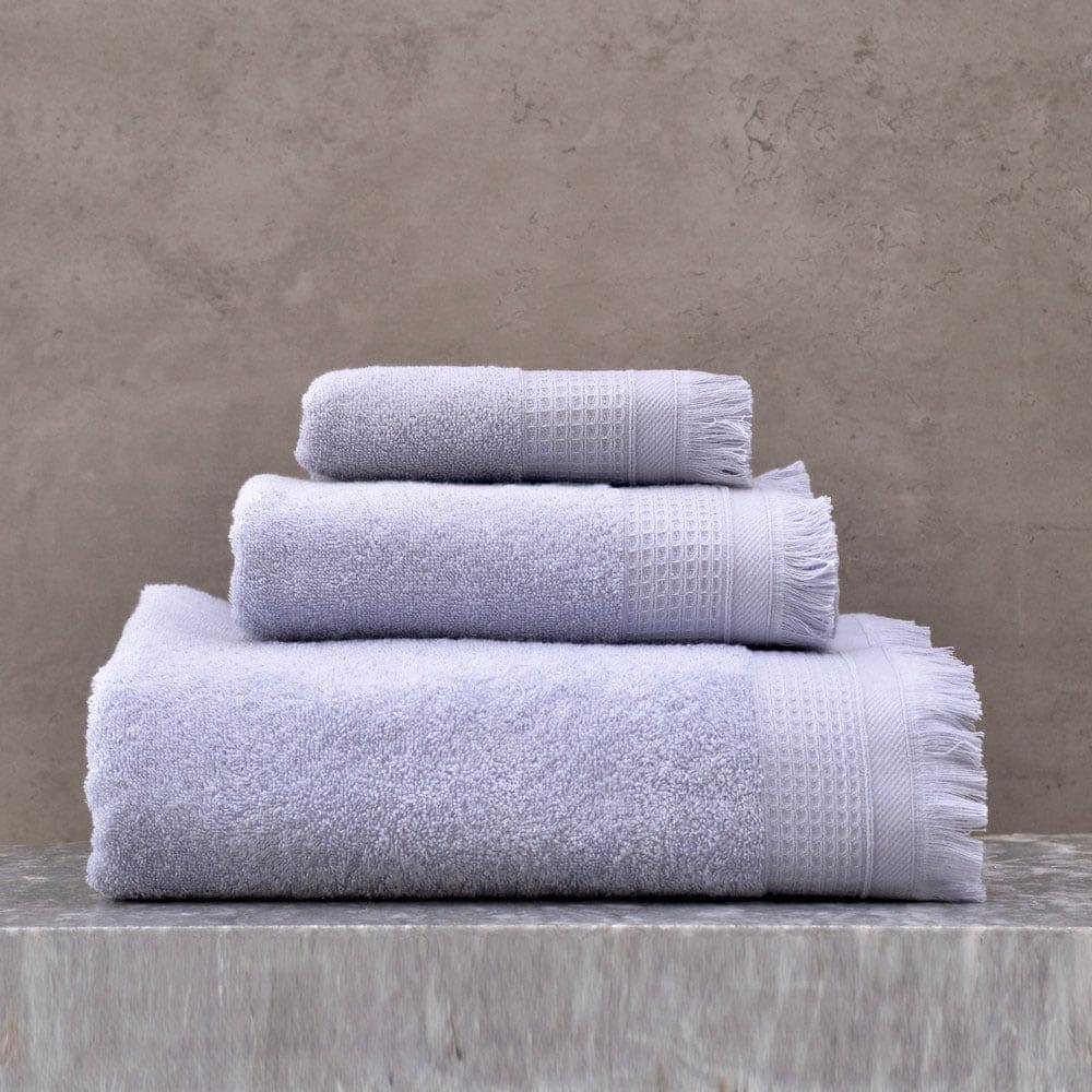 Πετσέτες Tanny Σετ 3τμχ Blue Ρυθμός Σετ Πετσέτες