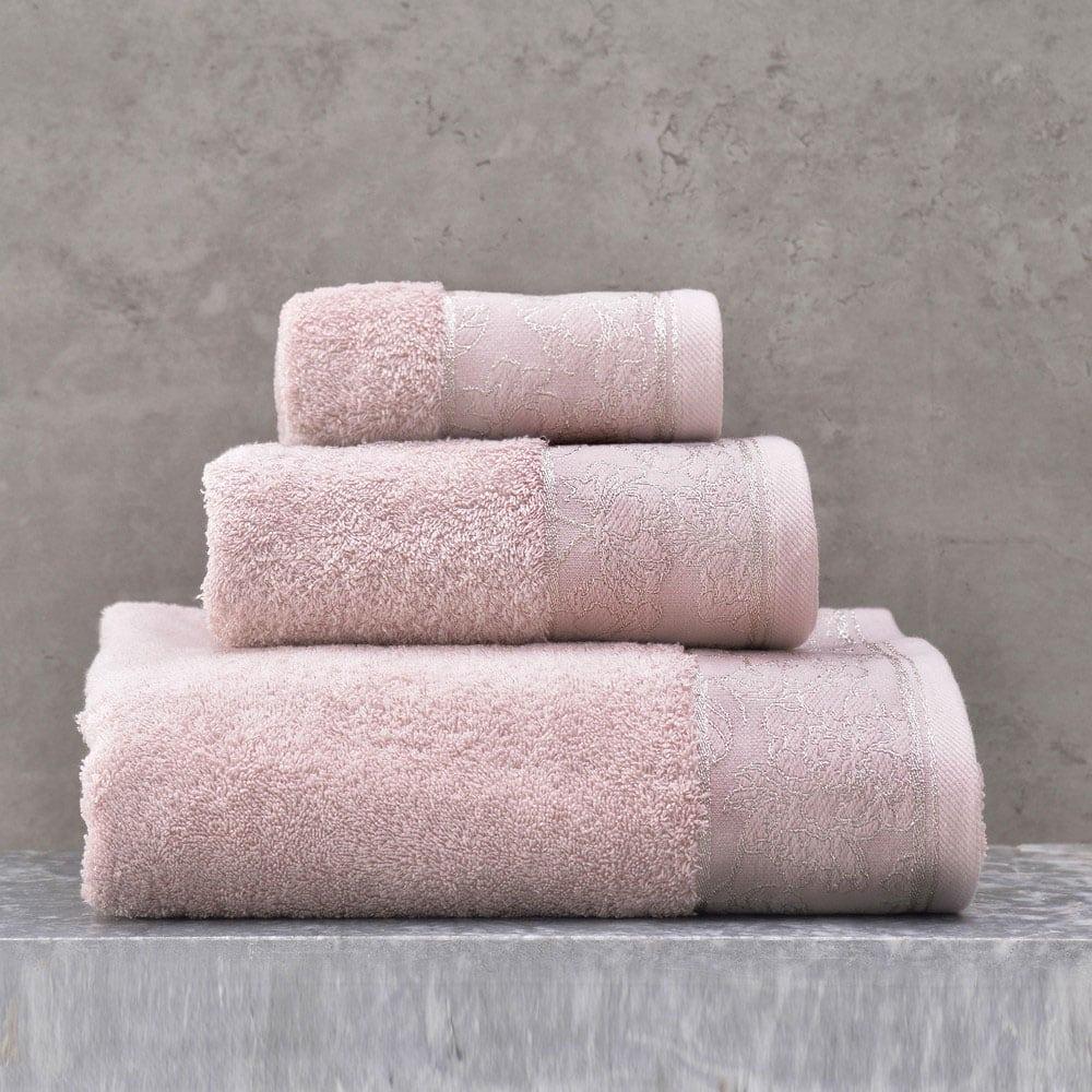 Πετσέτες Caresse Σετ 3τμχ Σε Κουτί Nude Ρυθμός Σετ Πετσέτες