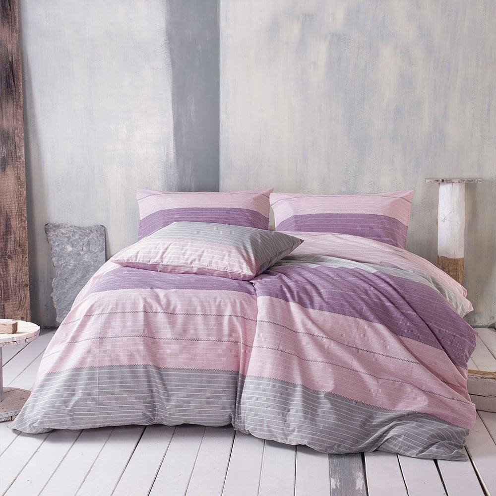 Μαξιλαροθήκες Joelle Σετ 2τμχ Beige-Pink Ρυθμός 50Χ70