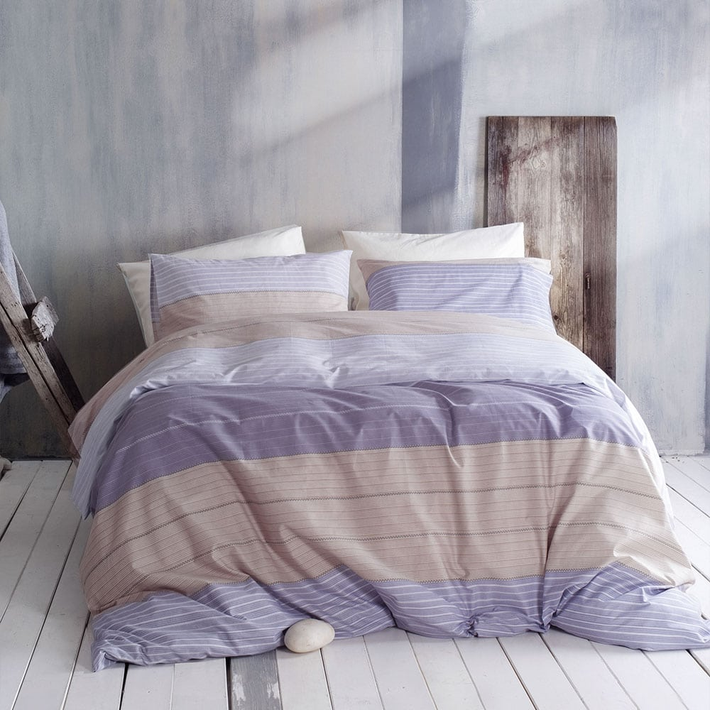 Μαξιλαροθήκες Joelle Σετ 2τμχ Grey-Purple Ρυθμός 50Χ70