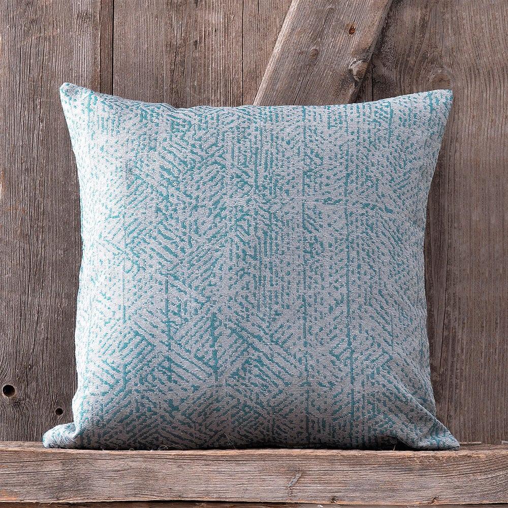 Μαξιλαροθήκη Διακοσμητική Frederic Blue Ρυθμός 40Χ40 Bamboo-Polyester