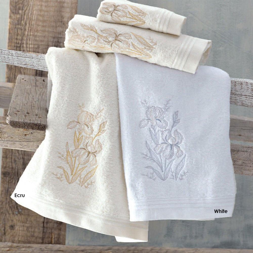 Πετσέτες Cyclamine Σετ 3τμχ White Ρυθμός Σετ Πετσέτες
