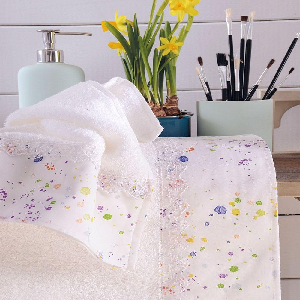 Πετσέτες Spots Σετ 3τμχ Σε Κουτί Multi Ρυθμός Σετ Πετσέτες