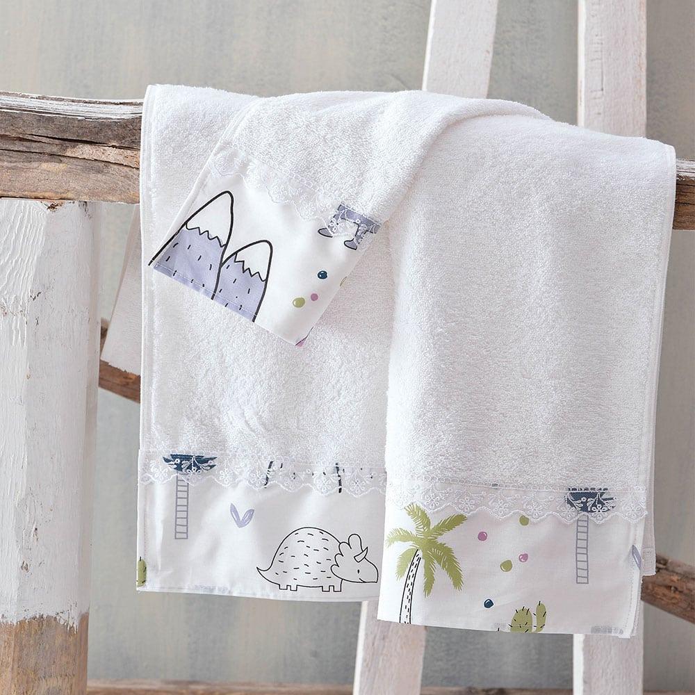 Πετσέτες Βρεφικές Dinofriends Σετ 2τμχ Multi Ρυθμός Σετ Πετσέτες