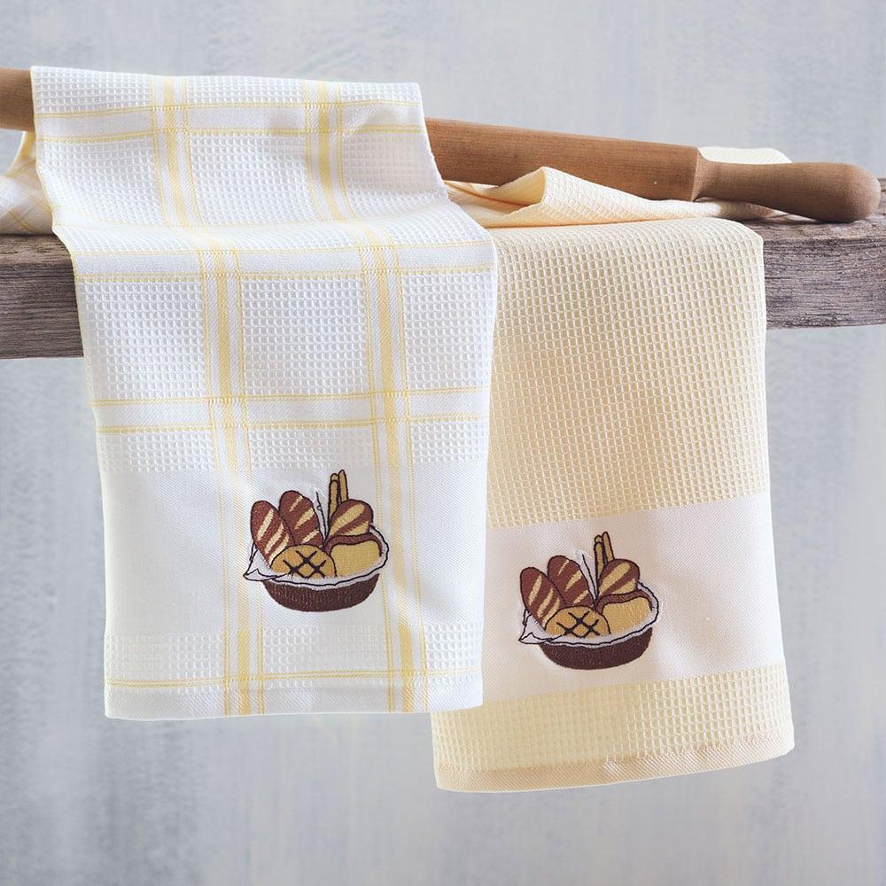 Πετσέτες Κουζίνας Πικέ Bread Σετ 2τμχ Ecru Ρυθμός