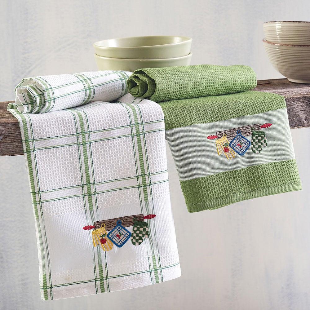 Πετσέτες Κουζίνας Πικέ Gloves Σετ 2τμχ Green Ρυθμός