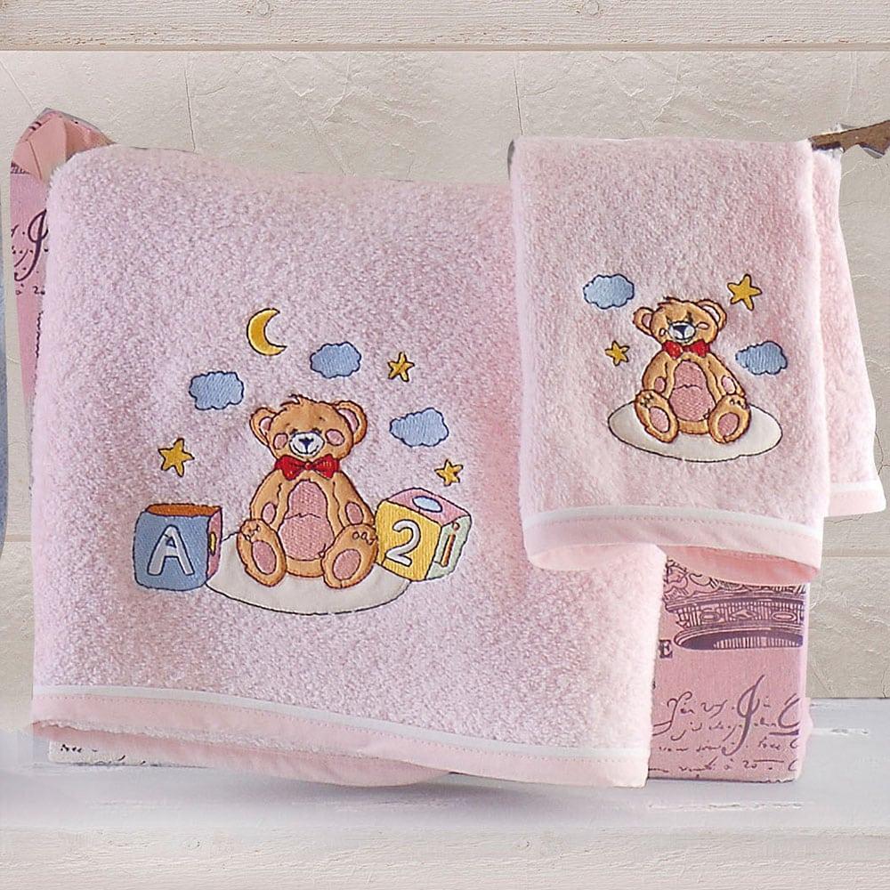 Πετσέτες Παιδικές Tomy Σετ 2τμχ Pink Ρυθμός Σετ Πετσέτες