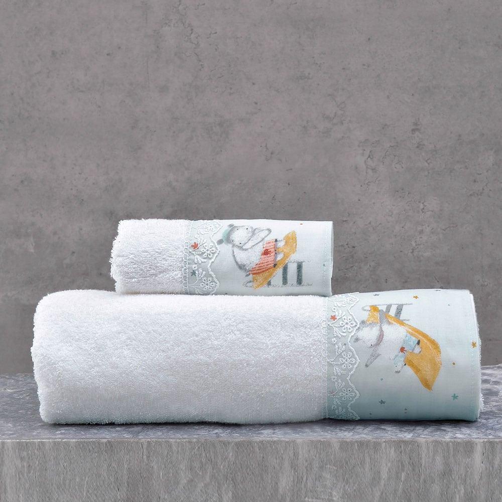 Πετσέτες Παιδικές Σετ 2τμχ Hippo Blue Ρυθμός Σετ Πετσέτες